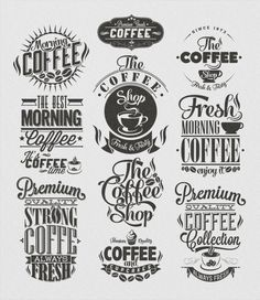 Vintage Coffee Labels on Behance