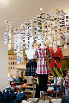 have always loved the idea of an organized linear photo display !