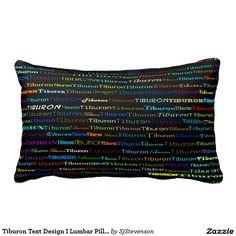 Tiburon Text Design I Lumbar Pillow