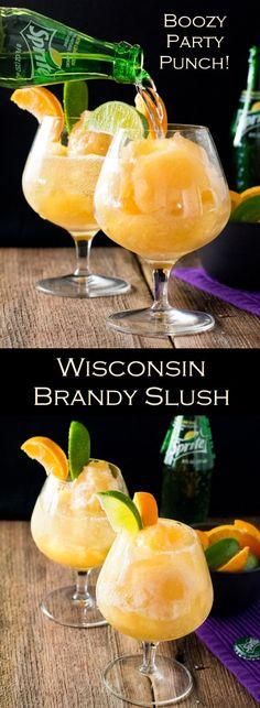 Wisconsin Brandy Slush - Booze Party Punch