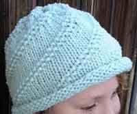 Roll Brim Spiral Hat