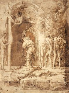 04_10.jpg (1027×1374)Andrea Mantegna (Isola di Carturo, circa 1431 - Mantua, 1506) The Descent into Limbo  circa 1468  Pen, ink and brown watercolour on vellum; H. 37.2 cm; W. 28 cm Paris, Ecole nationale supérieure des Beaux Arts, inv.189 © Ecole nationale supérieure des Beaux-Arts