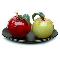 Margaret Neher 'green and red apple- salt & pepper shaker set'