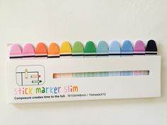 Colorful Marker Sticky Note Flags by GoatGirlMH on Etsy