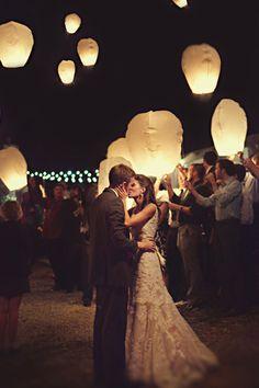 Paper Lantern Wedding Send Off.
