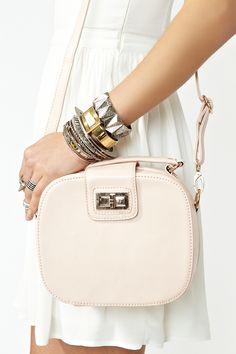 Bracelets & Pastel Pink Bag