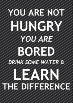 The difference between hungry and bored.