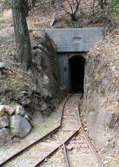 Smith Ranch gold rush mine and railroad track, Julian, CA