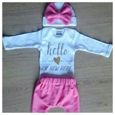 hello i am new here outfit Baby Newborn, Newborn Outfits, Onesies, Joy, Girls, Clothes, Fashion, Little Girls, Outfit