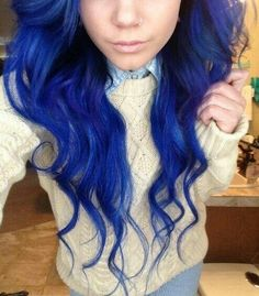 I wouldn't die my whole head this color, but I want to dye like a chunk of it this color!