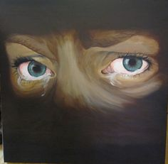 Therese Walland | paintings crying eyes