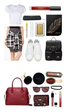 """""""The Essentials"""" by jennation ❤ liked on Polyvore featuring Material Girl, RE/DONE, Yves Saint Laurent, Sole Society, Kate Spade, Smythson, Cross, Lipstick Queen, Baggallini and Christian Dior"""