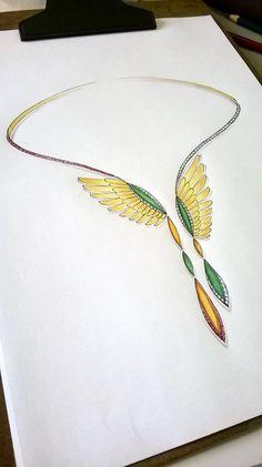 . Coral Jewelry, High Jewelry, Jewelry Art, Fashion Jewelry, Jewelry Design Drawing, Jewelry Illustration, Jewellery Sketches, Schmuck Design, Animal Jewelry