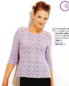 Пуловер с рукавами 3 4 спицами. Вязаные кофты с коротким рукавом спицами