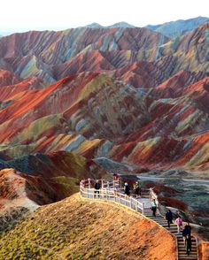 Zhangye Danxia Landform, China. I want to see this with my own eyes!