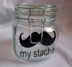 My Stache Mustache VINYL decal by artistrybymckenzieg on Etsy, $5.00