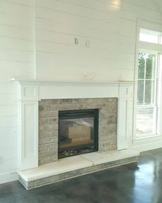 Happy Friday! Happy Fireplace! Fireplace done, woohoo! Sooooo close now, we should be in next week! This labor of love is almost finished! #weboughtafarm #gonnabeafarmer