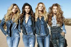 It's all in the jeans: Distinctive denim pieces dominate the fall range for Guess.