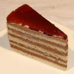 Dobos-torta | Receptek | gasztroABC Hungarian Desserts, Hungarian Recipes, Hungarian Food, Cupcake Recipes, Vanilla Cake, Tiramisu, Food Porn, Food And Drink, Favorite Recipes
