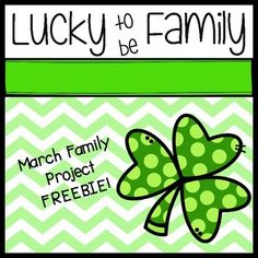 This is a free project for your students and families to create!  Copy and send home the shamrock with instructions to decorate as a family project.  Add pictures, illustrations, notes, etc...Makes a great March hallway display!
