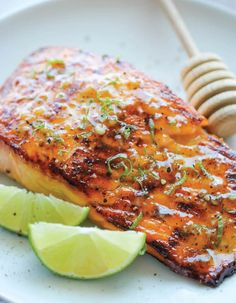 This healthy salmon is purely heaven on a plate. It is seared to perfection, then topped off with a brown butter, lime, gar...