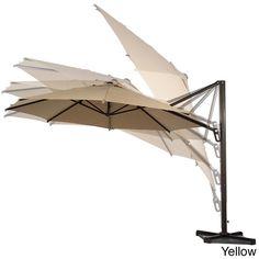 Abba Patio 11-foot Octagon Cantilever Vented Tilt and Crank Lift Patio Umbrella With Cross Base (11 ft,