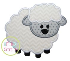 Lamb Applique Design Hoop Size 4x4 5x5 6x6 and by TheItch2Stitch, $4.00