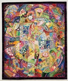 """Allie Aller –– Welcome to the """"""""new"""""""" crazy! • Jump into crazy quilting with seven enticing projects that include small quilts, a needle cushion, and a softie • Learn four different crazy piecing meth"""
