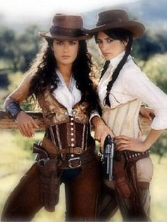 favorite style of corset...western, saloon, romantic and confident!!  Love the movie Bad Girls AND all their outfits this movie...great comedy with sexy style Cowboy Outfit For Women, Cowgirl Outfits For Women Dresses, Western Outfits For Women, Hats For Women, Ranch, Cowgirl Costume, Western Costumes, Western Saloon Halloween Costume, Cowboys