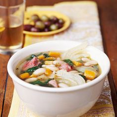 Tuscan Bean Soup with Spinach