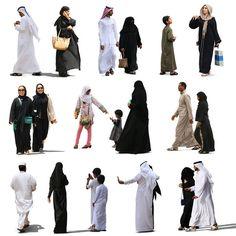 Texture psd popolo arabo musulmano