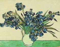Still Life Vase with Irises | Vincent Van Gogh | oil painting  - Prices starting at $143