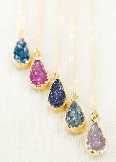 heavenly sweetheart. Gorgeous gold druzy pendant necklace