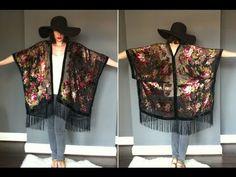 Klaire's Wardrobe: DIY Vintage Kimono Kimono Shrug, Mode Kimono, Vintage Kimono, Diy Vintage, Diy Clothing, Sewing Clothes, Kimono Fashion, Diy Fashion, Fashion Ideas