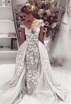 Cheap wedding gowns, Buy Quality lace mermaid wedding directly from China lace mermaid wedding dress Suppliers: 2017 Fashion Lace Mermaid Wedding Dresses Sexy Backless Appliques Short Sleeve Robe De Mariage 2016 Vintafe A-Line Wedding Gowns Dream Wedding Dresses, Bridal Dresses, Wedding Gowns, Lace Wedding, Wedding Venues, Prom Dresses, Backless Wedding, Wedding Ideas, Dresses 2016
