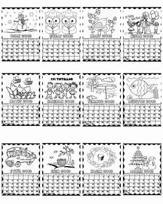 Educational Activities, Art Activities, Daycare School, Crafts For Kids, Arts And Crafts, Calendar Design, Hotel Interiors, Kindergarten Math, Coloring Pages