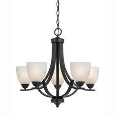 Rouen 5-light Black Chandelier - Overstock Shopping - Great Deals on Design Craft Chandeliers & Pendants