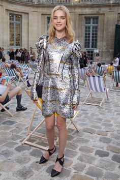 Natalia Vodianova en Louis Vuitton http://www.vogue.fr/mode/look-du-jour/articles/natalia-vodianova-en-louis-vuitton/26604