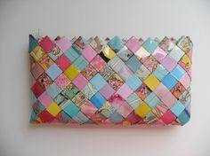 Pink Panter Candy wrapper/embrague por MadamZikzak en Etsy