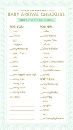 What to pack for the hospital {I would swap aquaphor for coconut oil & including the camera battery charger}