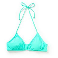 Empyre Sunkissed Mint Bralette Bikini Top ($25) ❤ liked on Polyvore featuring swimwear, bikinis, bikini tops, mint swimwear, bralette swim top, swim tops, mint swim wear and swim suit tops