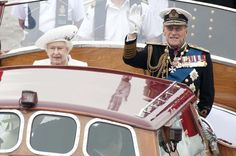 On the river: Prince Phillip joins the Queen