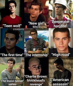 Teen Wolf and The Maze Runner are his biggest works. Dylan O'brien, Teen Wolf Dylan, Teen Wolf Stiles, Teen Wolf Cast, Sterek, Stydia, Teen Wolf Funny, Teen Wolf Memes, Scott Mccall