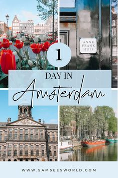 Looking for the ultimate list of things to do with one day in Amsterdam? Well, look no further, for a complete one day in Amsterdam itinerary that covers all the very best things to do in the magical city. As an Amsterdam resident for the past 3 years, I know what you should see and what's worth missing with limited time in the city. Amsterdam Itinerary, Amsterdam City Guide, Amsterdam Canals, Amsterdam Winter, Visit Amsterdam, Amsterdam Travel, European Road Trip, European Travel, Asia Travel