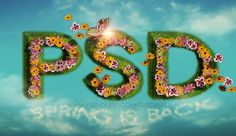 Create a Floral Text in Photoshop with SuperSpray Plugin - Photoshop tutorial   PSDDude