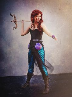 post-apocalyptic ariel from the little mermaid Super Hero shirts, Gadgets halloween cosplay Ariel Halloween Costume, Ariel Costumes, Halloween Cosplay, Cool Costumes, Costumes For Women, Cosplay Costumes, Siren Costume, Halloween Mermaid, Woman Costumes