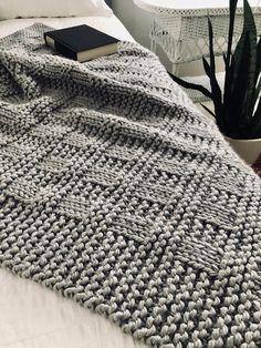 Westport Blanket pattern by Fifty Four Ten Studio : Ravelry: Westport Blanket knitting pattern by Fifty Four Ten Studio. Easy to knit with super bulky yarn. Instructions for 5 blanket sizes: baby blanket, crib blanket, medium & large throw, XL afghan. Easy Blanket Knitting Patterns, Knitting Terms, Knitted Afghans, Knitted Baby Blankets, Easy Knitting, Knitted Blankets, Loom Knitting Blanket, Baby Blanket Size, Blanket Sizes