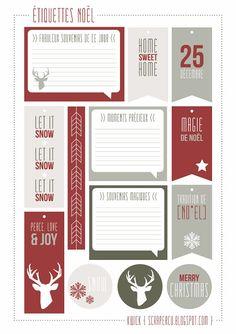 étiquettes pour Noël