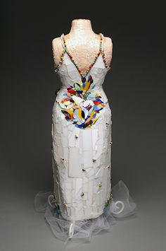 Coming Into Bloom (back) by Patty Franklin Mosaic sculpture ~ 30 x 10