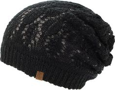 Empyre Girls Noble Grey & Black Lace Reversible Beanie at Zumiez : PDP